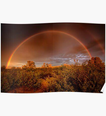 Rainbow Brush Poster