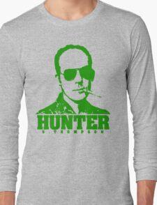 Mr Hunter S. Thompson (Green print) Long Sleeve T-Shirt