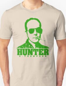 Mr Hunter S. Thompson (Green print) T-Shirt