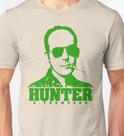 Mr Hunter S. Thompson (Green print) Unisex T-Shirt