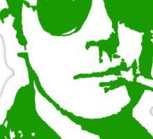Mr Hunter S. Thompson (Green print) Sticker
