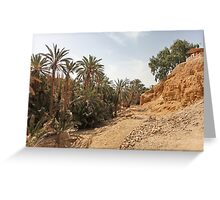 oasis of the desert Greeting Card