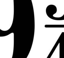 9 And Three Quarters (In Black) Sticker