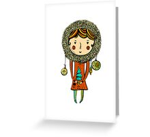 Chistmas tree girl Greeting Card