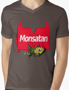 Monsatan Mens V-Neck T-Shirt