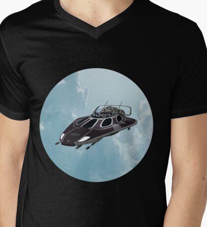 Spaceship Mens V-Neck T-Shirt