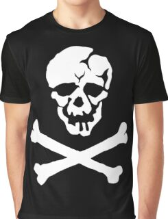Skull Squadron (white skull) Graphic T-Shirt
