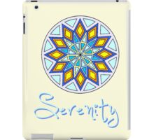Serenity -Text iPad Case/Skin