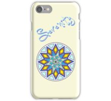 Serenity -Text iPhone Case/Skin