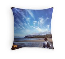 Feathery clouds Throw Pillow