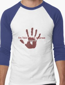 Great Listener Men's Baseball ¾ T-Shirt