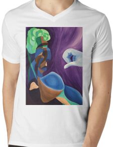The Broccoli-haired man Mens V-Neck T-Shirt