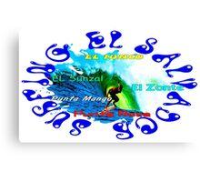 Surfing El Salvador Canvas Print