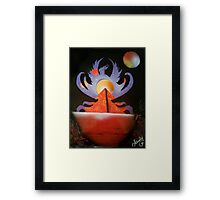 Phoenix Rising Dark Framed Print