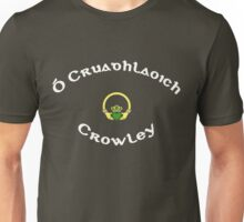 Crowley Surname - Dark Shirts with Claddagh Unisex T-Shirt