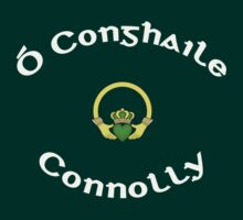 Connolly Surname - Dark Shirts with Claddagh by Mike Collins