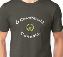 Carroll Surname - Dark Shirts with Claddagh Unisex T-Shirt