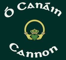 Cannon Surname - Dark Shirts with Claddagh by Mike Collins