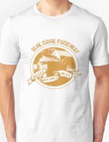 Blue Ridge Parkway in Gold T-Shirt