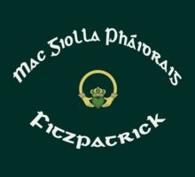 Fitzpatrick Surname - Dark Shirts with Claddagh by Mike Collins