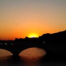 Notre Dame Bridge at Sunset by Christophe Claudel