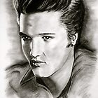 Elvis in black and white by GittaG74