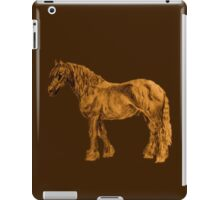 Sepia Draft Horse iPad Case/Skin