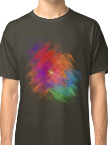 Apophysis Fractal Design - Enhanced Rainbow Flower  Classic T-Shirt