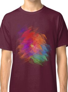 Apophysis Fractal Design - Enhanced Rainbow Flower  Classic T-Shirt