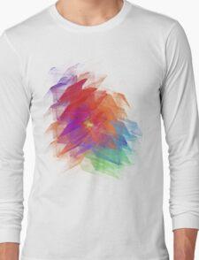 Apophysis Fractal Design - Enhanced Rainbow Flower  Long Sleeve T-Shirt