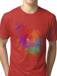 Apophysis Fractal Design - Enhanced Rainbow Flower  Tri-blend T-Shirt