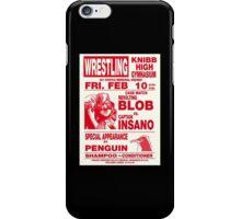 The Revolting Blob Wrestling Poster iPhone Case/Skin