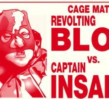 The Revolting Blob Wrestling Poster Sticker
