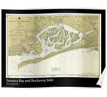 Vintage Print of Jamaica Bay and Rockaway Inlet  Poster