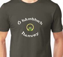 Hanvey Surname - Dark Shirts with Claddagh Unisex T-Shirt