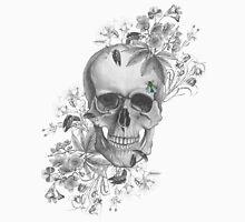 flower skull and bee Unisex T-Shirt