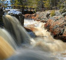Upper Cataract Dam Falls During the Spring Snowmelt by DArthurBrown