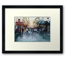 The crowd - Watercolor Framed Print