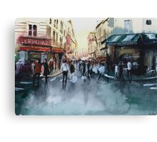 The crowd - Watercolor Canvas Print