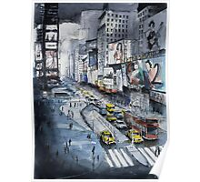 Time Square - Watercolor Poster