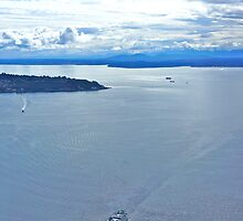 Across the Sound, Seattle, WA by David Davies