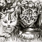Baby Cats in the Garden by GittaG74
