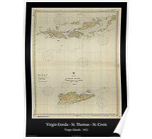 Vintage Virgin Islands Print - 1921 Poster
