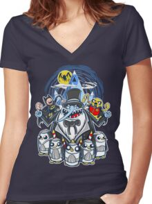 Penguin Time Women's Fitted V-Neck T-Shirt
