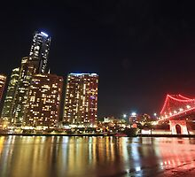State Of Origin - Story Bridge Lights by Louiedownunder  ©