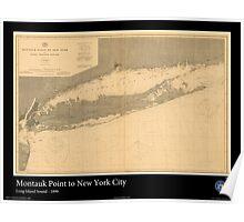 Vintage Print of Long Island Sound -1899 Poster