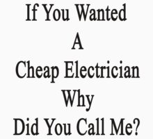If You Wanted A Cheap Electrician Why Did You Call Me? by supernova23