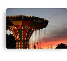 Carnival Ride and Sunset Canvas Print