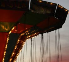Carnival Ride and Sunset Sticker
