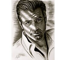 G. Clooney in black and white Photographic Print